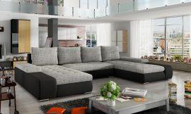 Corner sofa bed Lennon-grey