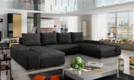 Corner sofa bed Lennon-dark-grey