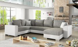 Corner sofa bed Kellan-white-grey-right