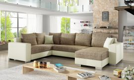 Corner sofa bed Kellan-beige-brown-right