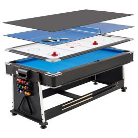 Spartan 3-in-1 biljardipöytä / ilmakiekko / pingis 7ft pelipöytä