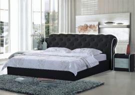 Bed Vegas Style Lux 160-180-160x200cm-black