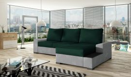 Corner sofa bed Romeo-dark green-right