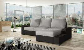 Corner sofa bed Romeo-light grey-right