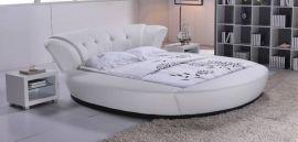 Pyöreä Sänky Omaha Lux 180x200cm valkoinen
