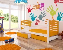 Children bed Graciella 180x75-orange