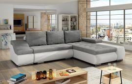 Corner sofa bed Roscoe-light grey-right