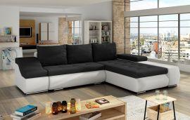 Corner sofa bed Roscoe-black-white-right