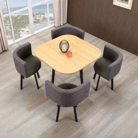 Dinning table set 4 chairs Parviz-wood