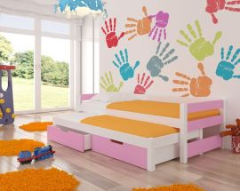 Children bed Flynn-pink