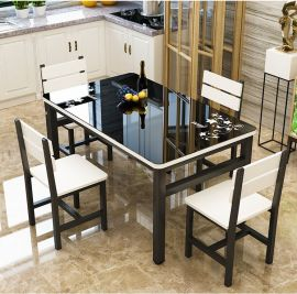 Dinning table set 4chairs Prescott-black