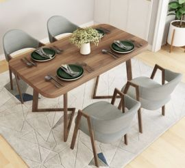Dinning table set 4 chairs Prime-grey