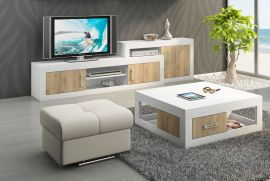 TV-Stand and coffeetable set Riny-oak-white