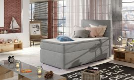 Boxspring bed Forsberg 90x200 cm-light grey