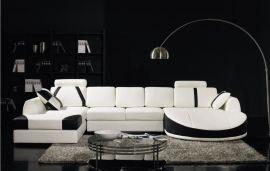 Kulmasohva Rovigo valkoinen nahka
