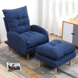 Armchair Sanford-dark blue