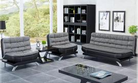 Sofa set Comfy 3+1+1-black-grey