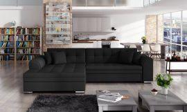 Corner sofa bed Meera-black-left