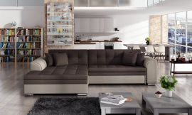 Corner sofa bed Meera-beige-brown-left