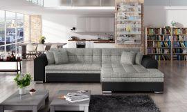 Corner sofa bed Meera-black-grey-right