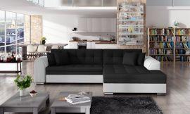 Corner sofa bed Meera-black-white-right