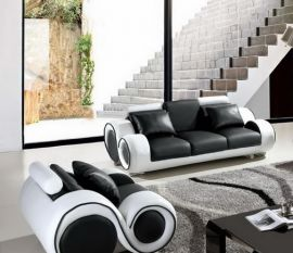 3-seater sofa Space -black