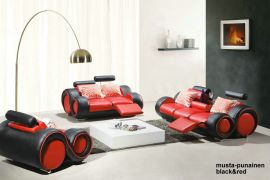 Space 1+2+3 Sofa set-red