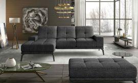 Corner sofa bed Lotte-dark-grey-left