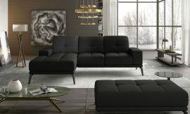 Corner sofa bed Lotte-black-left