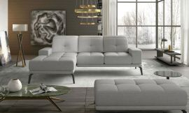 Corner sofa bed Lotte-light grey-left