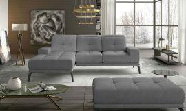 Corner sofa bed Lotte-grey-left