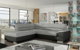 Corner sofa bed Camilla-black-grey-left