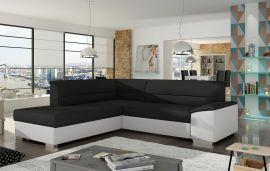 Corner sofa bed Camilla-black-white-left