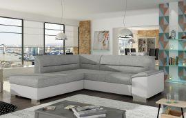 Corner sofa bed Camilla-white-grey-left