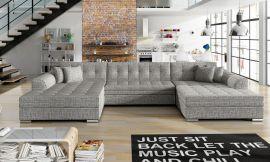 Corner sofa bed Helena-light grey