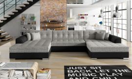 Corner sofa bed Helena-black-grey