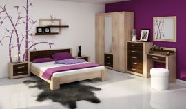 Viki bed 160x200cm-oak-brown