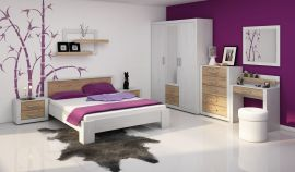 Viki bed 160x200cm-oak-white