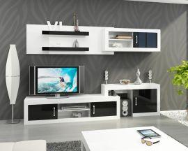 Living room set Vilma-black-white