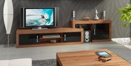 TV-Stand Riny-black-brown